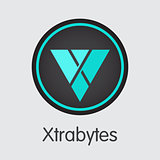 Xtrabytes Cryptocurrency Coin. Vector Graphic Symbol of XBY.