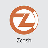 Zcash Crypto Currency - Vector Logo.