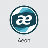 Aeon Cryptographic Currency - Vector Symbol.