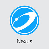 Nexus Digital Currency - Vector Trading Sign.