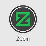 Zcoin Cryptocurrency - Vector Element.