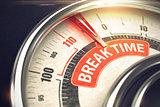 Break Time - Business Mode Concept. 3D.