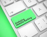 Analyzing Website Ranking - Message on Green Keyboard Key. 3D.