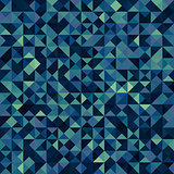 Dark multicolor polygonal background consists of squares divided into triangles