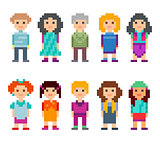 Different pixel 8-bit characters