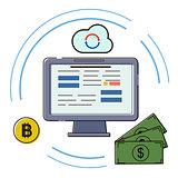 Blockchain concepts vector illustration