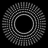 halftone white circle
