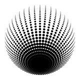 halftone black circle