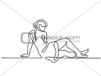 Beautiful woman woman lying on her side