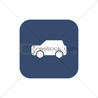 Car icon vector on background.