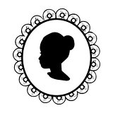 Silhouette portrait face girl image