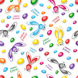 Happy easter abstract seamless background.