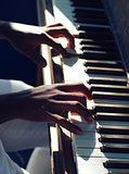 learning music piano jazz hands playing keyboard practicing instrument