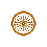Wooden bicycle wheel