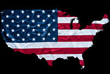 united states map with flag background