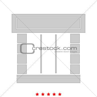 Shopfront it is icon .