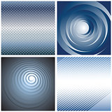 Abstract blue backgrounds set.