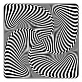 Rotation, swirl and torsion illusion. Op art design.