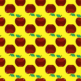 Apple red yellow seamless pattern background