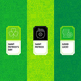 Line Saint Patrick Package Labels