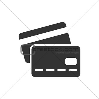 Credit card black icon