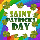 Saint Patricks Day Card Design - rainbow Background