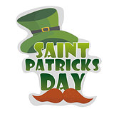St. Patricks Day vintage holiday badge design