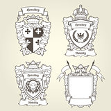 Coat of arms templates - heraldic shield with blazons