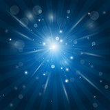 White rays, light glow effect - star burst with sparkles