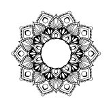 Ethnic mandala design - flower style tracery in ethnic style