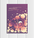 Vector brochure A5 or A4 format abstract circles trees forest landscape design element corporate style