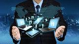 Internet information technology concept