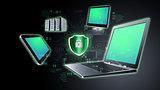 Secure Internet information technology concept