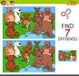 find differences with bears animal characters