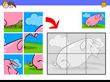 jigsaw puzzles with pig animal character