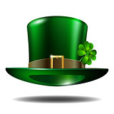 Green St. Patricks Day hat with clover