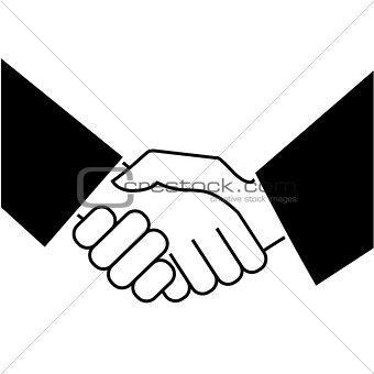 Business handshake. Icon on white background