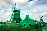 Dutch windmills from Zaanse Schans, Amsterdam, the Netherlands
