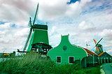 Dutch windmills from Zaanse Schans, Amsterdam, the Netherlands