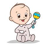 Cartoon Baby Rattler