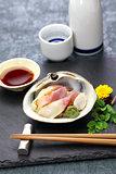 hokkigai sashimi, japanese cuisine