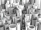 Grey Industrial Plastic Pipes