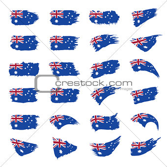 Australia flag, vector illustration