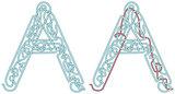 Maze letter A