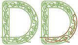 Maze letter D
