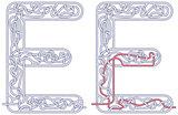 Maze letter E