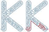 Maze letter K