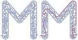 Maze letter M