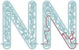 Maze letter N