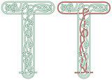 Maze letter T